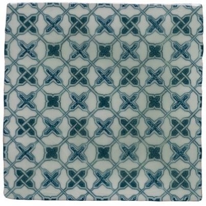 Patchwork orm blue-mint